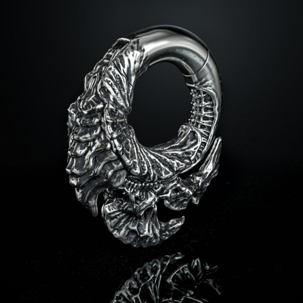 Body Jewelry - Biomechanical Jewelry - Hinged segment ring